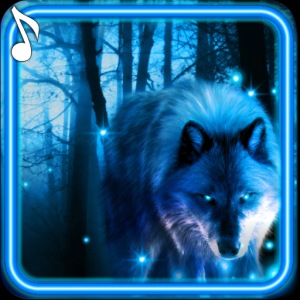 Wolves Night live wallpaper Icon