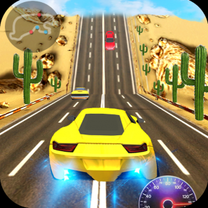Racing In Car 3D Icon