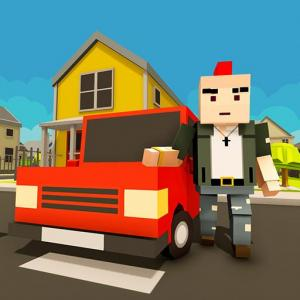 Virtual Life In A Simple Blocky Town Icon