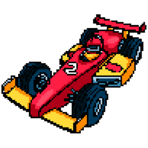 Racing Cars Color by Number - Pixel Art Coloring Icon
