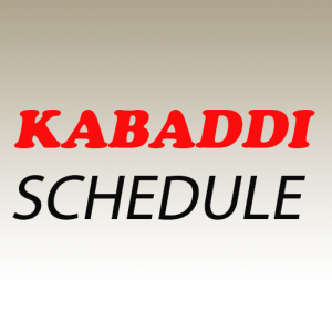 Kabaddi Schedule 2019 (Points Table and Squad) Icon
