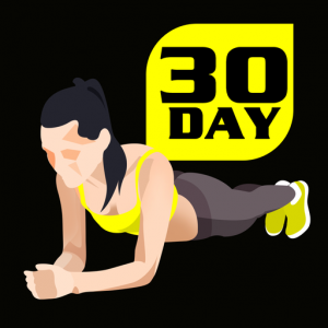 30 Day Plank Challenge Free Icon