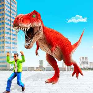 Angry Dino Attack City Rampage: Wild Animal Games Icon