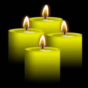 Yellow Candles Live Wallpaper Icon
