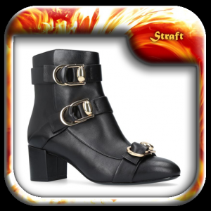 Black Leather Boots Icon