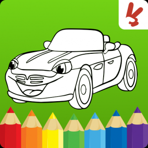 Cars coloring pages : Cartoon drawing for kids Icon