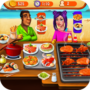 Seafood Cooking Chef: Addictive Free Cooking Games Icon