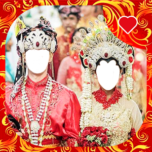 Traditional Wedding Couple Photo Frames Icon