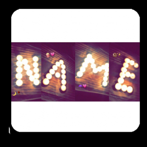Photo Designer - Write your name with shapes Icon