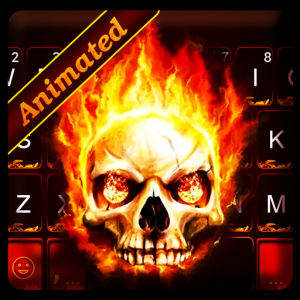 Live Fire Skull Keyboard Theme Icon