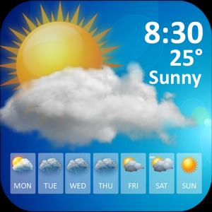 Weather forecast weather today – widget and clock Icon