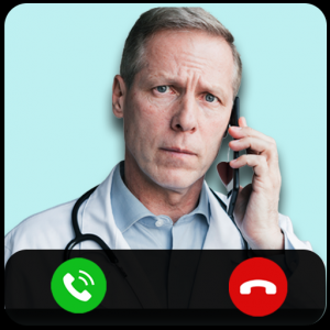 Fake call from hospital Icon