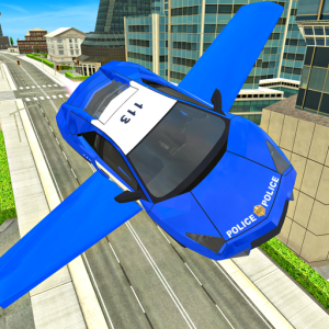Police Flying Cars Futuristic Sim 3D Icon