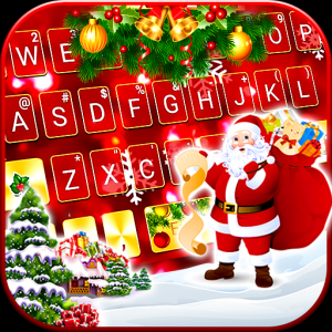 Gold Red Christmas Keyboard Theme Icon