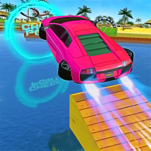 Water Car Stunt Racing 2019: 3D Cars Stunt Games Icon