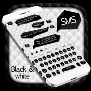 SMS Black White Keyboard Icon