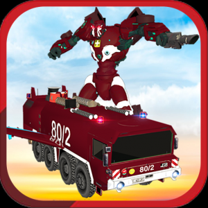 Real Robot fire fighter Truck: Rescue Robot Truck Icon