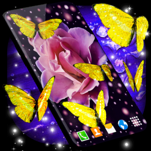 Gold Butterfly Live Wallpaper 🦋 Golden Wallpapers Icon