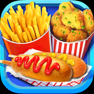 Street Food: Deep Fried Foods Maker Cooking Games Icon