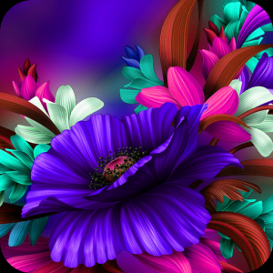 Themes app for  S6 Purple Bloom flower Icon