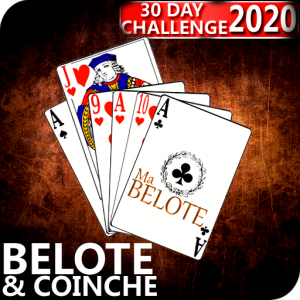 Free French Belote & Coinche - 30 days Challenge Icon