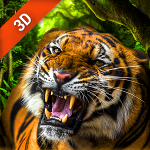 Moving Tiger Live Wallpaper Icon