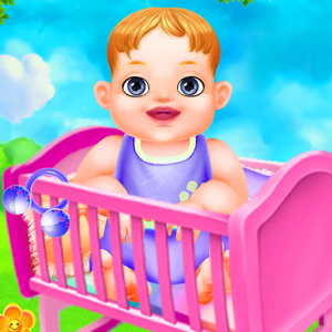 Baby Care and Girls Play Nursery Game For Kids Icon