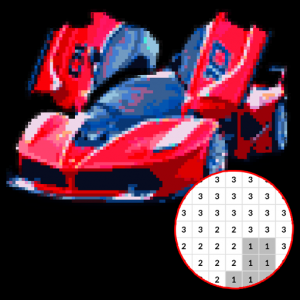 Car Color By Number - Pixel Art Icon