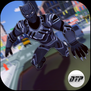 Grand Panther Flying Superhero City Battle Icon