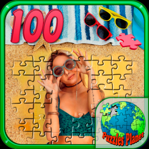 Girl's puzzles (100 details) Icon