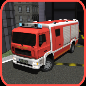 3D Firefighter Parking Icon
