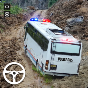 Police Bus Simulator Transport Driving Free Game Icon