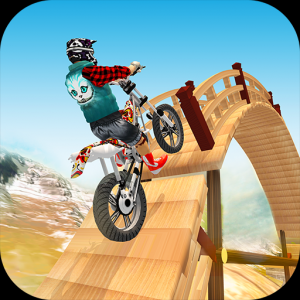 Tricky Bike Racing With Crazy Rider 3D Icon
