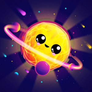 Merge Planets Space : hyper casual game Icon