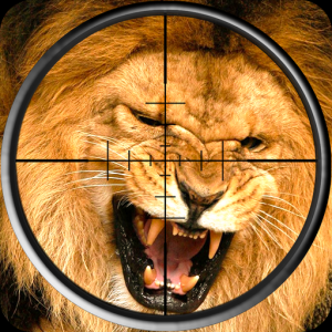 Lion Hunting Sniper Shooting Icon