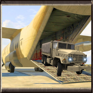 Army Transport Truck Driver 3D Icon