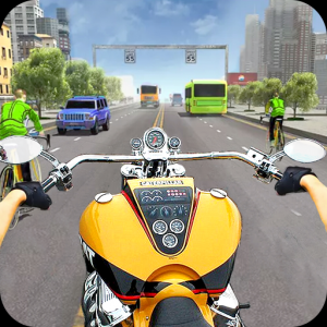 Motorcycle Traffic 3D Icon