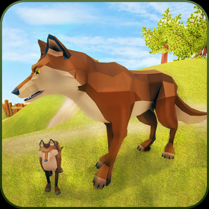 The Wolf Simulator 3D: Animal Family Tales Icon