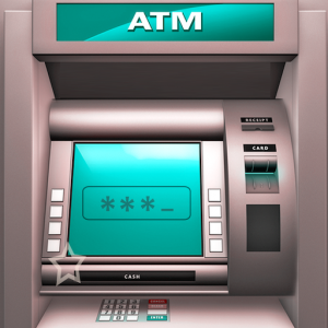 Bank ATM Simulator Learning - ATM Cash Machine Icon