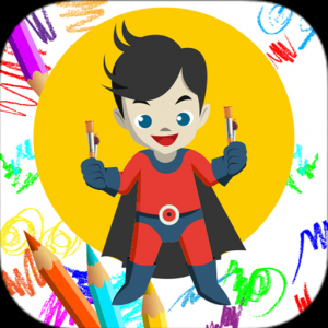 Super Heroes Coloring Icon