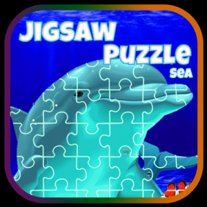 Sea life and dolphins jigsaw puzzles for everyone Icon