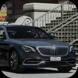 Car Driving Mercedes Maybach Parking Icon