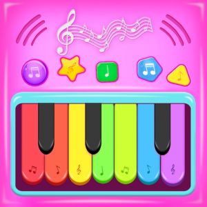 Pink Princess Musical Band - Music Games for Girls Icon