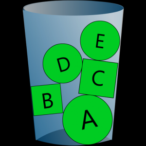 Cup Letters Icon