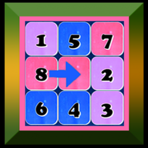 Shuffle Puzzle – Number Puzzle Brain Teaser Icon